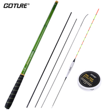 Goture 3.6-7.2m Excessive Carbon Telescopic Stream Hand Fishing Rod With Carp Fishing Float Line Hook and Prime Three Spare Suggestions