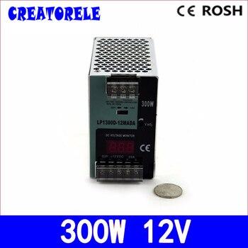 ac to dc -LP-300-12 300W 12V 25A  din rail  Digital display StrLP light Led driver source switching power supply volt
