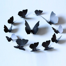 12Pcs Pvc 3D Butterfly Wall Decor Cute Butterflies Stickers Art Decals Home Decoration Room Window High Quality