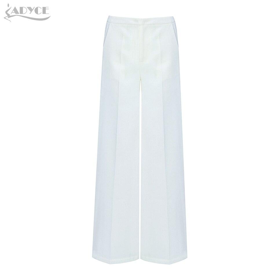 Adyce 2019 New Summer Women Runway White   Pants   Fashion   Wide     Leg     Pants   Elegant Celebrity Evening Party Club   Pants   Trousers