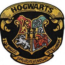 """3,"""" Гарри Поттер дом Хогвартс герб эмблема халат с вышивкой железа на патч Рок Ретро аппликация Прямая поставка"""