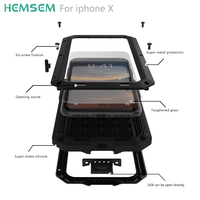 Przypadki Armor 360 pełna ochrona dla iphone X case odporny na wstrząsy pyłoszczelna pokrywa metalowa obudowa dla iphonex zbiornik uparty ultra light