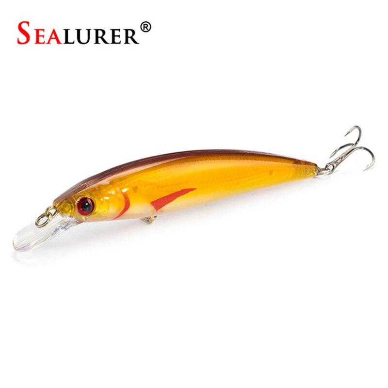 SEALURER Floating Wobbler Laser Minnow Fish Lure 11CM 135G Artificial Plastic Pesca Hard Bait Carp Crankbait 10Colors 1pcslot