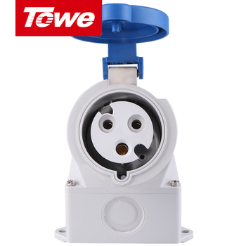 цена на Towe Industrial Connector IPS-S332S  32A  3 Pins  2P+E  Female   IP44  Surface Mounted Socket