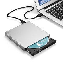 Unidad de CD-RW combinada de DVD externo USB2.0 CD-RW unidad de CD de DVD ROM para PC/Laptop/Notebook QJY99