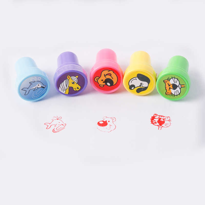 Sunrise Sunshine Stamps Toys 1pcs random type cartoon animal seal toy stamp game for children playing one pcs per price selling
