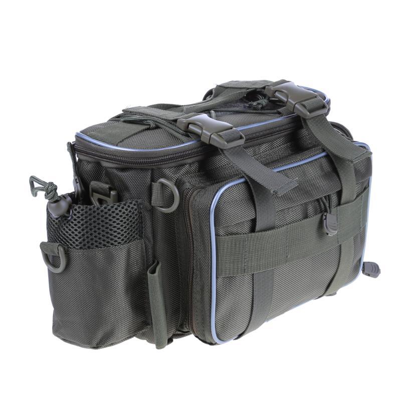 Waterproof Fishing Bag Large Capacity Multifunction Fishing Tackle Pack Outdoor Shoulder Bag <font><b>Carp</b></font> Fishing Accessories 35*22*21cm