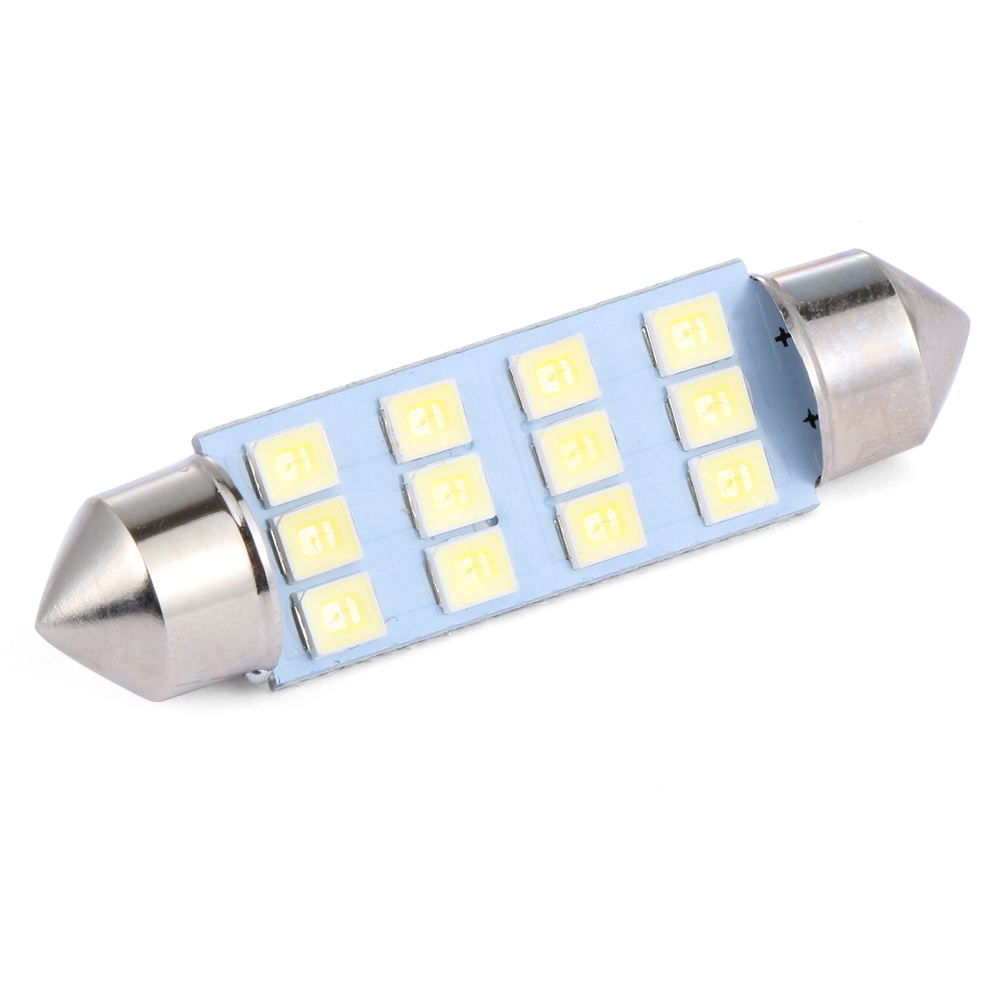 10 X 41mm 12 Smd Led Car Interior Festoon Dome Bulb Lamp Light 12v 2.5*1*4.1cm Accessories Electric Vehicle Parts