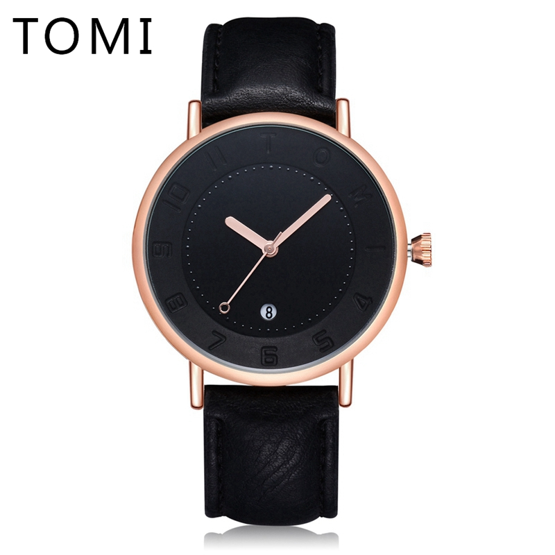 Tomi Men Watches Top Brand Luxury Leather Strap Sport Men Quartz Wristwatch Waterproof  Fashion Luxury Gift Relogio Watch T014 0 08 thickness 0 08 100mm authentic 304 321 316 stainless steel col rolled bright thin foil tape strip sheet plate coil roll