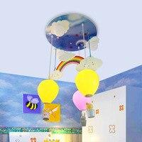 Kinderzimmer regenbogen ballon LED decke lichter schlafzimmer kreative cartoon persönlichkeit decke lampe laterne heißer luft LU8111535-in Pendelleuchten aus Licht & Beleuchtung bei