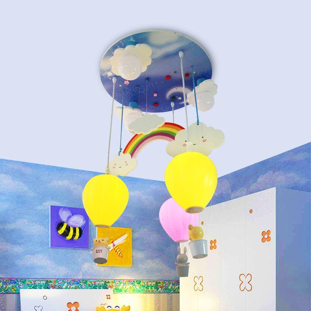 La chambre des enfants arc-en-ballon LED plafonniers chambre bande dessinée créative personnalité plafond lampe lanterne air chaud LU8111535
