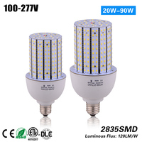 Free Shipping High bright 30w E27 E40 Led Corn Light Lamp to replace 100w HPS street light CE ROHS ETL