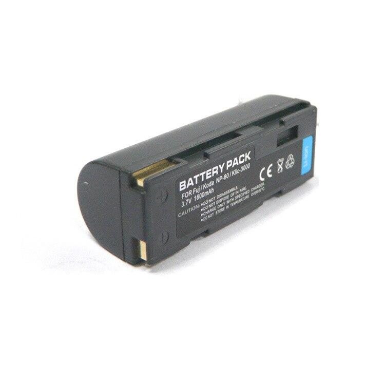 3 X Batería Ex-Pro NP-80 para Fuji Fujifilm Finepix 2700 4800 4900 6800 6900 Zoom