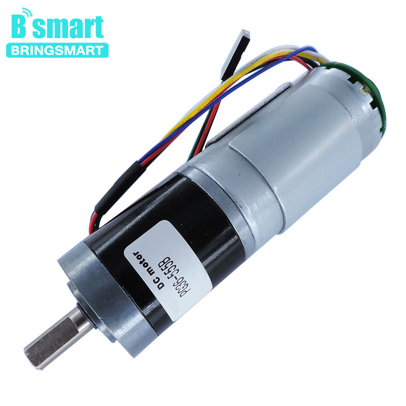 Bringsmart Reducer Motor PG36-555B 12v 21rpm Mini Planetary Gear Encoder 24v 42rpm DC Motor Reversed Electric Encoder MachineBringsmart Reducer Motor PG36-555B 12v 21rpm Mini Planetary Gear Encoder 24v 42rpm DC Motor Reversed Electric Encoder Machine