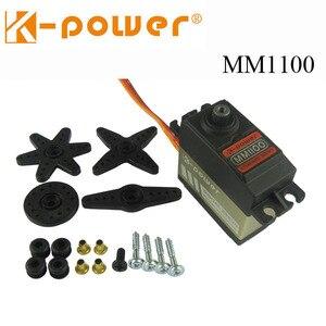 Image 1 - K power MM1100 10KG Drehmoment Metall Getriebe wasserdicht Servo für RC Auto/RC Hobby/RC roboter /flugzeug/boot/Zurückziehen landung