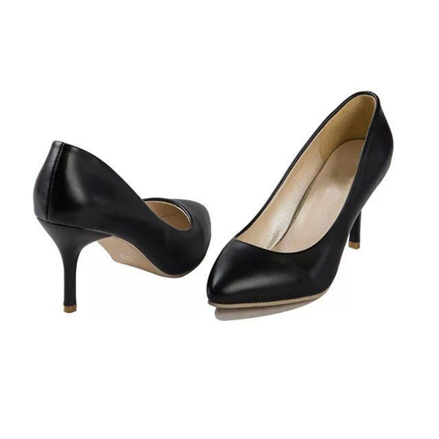 Women Summer High Heels Footwear Pumps Shoes Shallow Mouth Casual Womens Wedding Wedge Shape Leisure