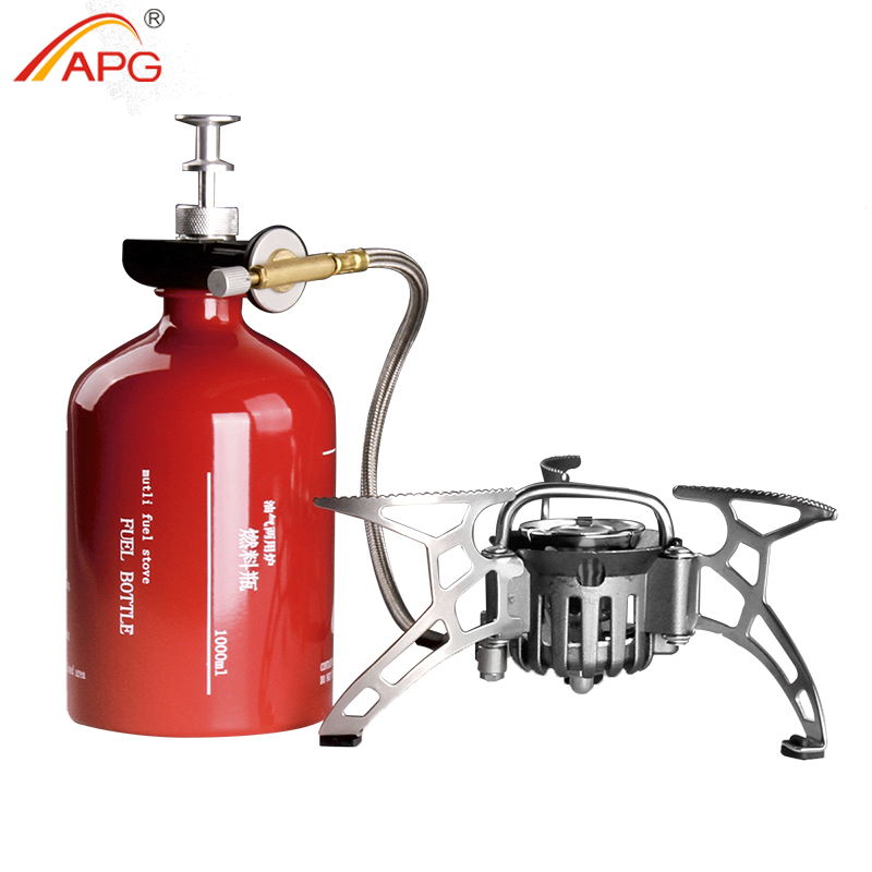 APG Portable Camping Stove Oil/Gas Multi-Use Gasoline Stove 1000ml Picnic Cooker Hiking Equipment горелка outwell gourmet cooker olida stove 650604