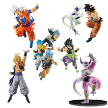 цена на 2019 Anime Dragon Ball DBZ TAG FIGTHRS Son Goku Vegeta Super Saiyan Blue Vegetto Pvc Action Figure Celloction Model Toys