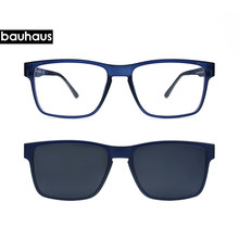 ea85561556 High End Quality Optical Eyeglasses Frame Men Clip On Magnets Polarized Myopia  Glasses sunglasses Spectacle Frame For Male