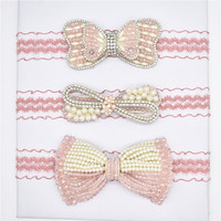 3/pcs  Luxury lady Pearl crystal accounts hairband headband elastic  head band headwear hair accessories for the Girls Accessories