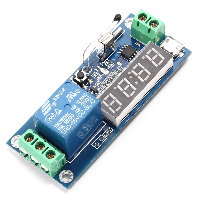 Timer temperature relay promotion shop for promotional timer digit electric clock temperature timer digital board delay relay module timing control self locking switch controller sciox Images