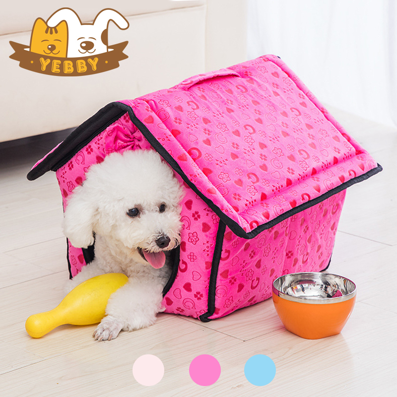 Small Dog Bed Cat Pet Sleeping Bag Comfortable Kennel Cottage Cosy Sack House All Around Nest