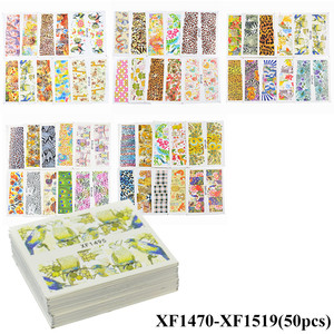 Image 5 - Wholesale Mixed 2020 Newest Designs Watercolor Floral Flower Sticker Nail Decal Set for Gel Manicure Decor Water Slider Foil Set