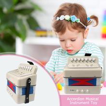 Маленький детский клавишный аккордеон ритм обучающий музыкальный инструмент группа игрушка для детей acordeon инструмент de musique