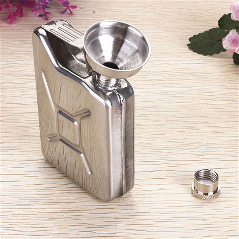 5oz Stainless Steel Funnel Liquor Funnel Wedding Party Bar Drink Bottle Hip Flask Liquor Whisky Bottle