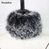Winter 100% Silver Fox Fur Knitted Scarf, Fox Fur Muffler Fur real fox fur scarf warm ear protecter headband 2018