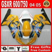 Горячая распродажа для SUZUKI красота цвет 2004 2005 GSXR 600 750 зализа K4 RIZLA версия gsxr600 ZDC GSX R750 04 05 мотоциклов 674