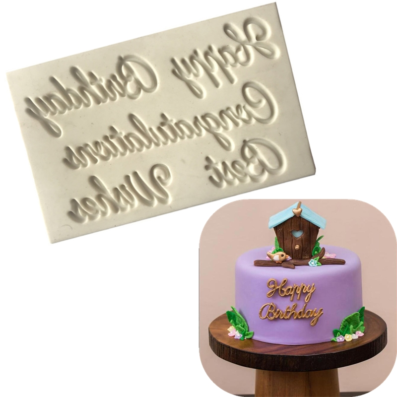 1PC English <font><b>Letter</b></font> Fondant Silicone <font><b>Cake</b></font> Mold Pastry Candy <font><b>Tools</b></font> Chocolate Baking Mold <font><b>Cake</b></font> <font><b>Decorating</b></font> <font><b>Tools</b></font> image