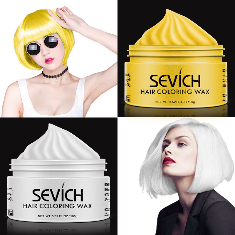 Sevich hair color wax hair dye permanent hair colors cream unisex strong hold grandma grey disposable pastel dynamic hairstyles image