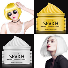 Sevich hair color wax dye permanent colors cream unisex strong hold grandma grey disposable pastel dynamic hairstyles