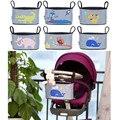 Bebê cesta de suspensão stroller organizer saco de armazenamento de animais stroller acessórios saco de fraldas carrinho de bebe kinderwagen tasche