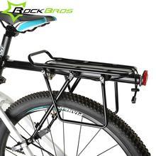 цена на ROCKBROS MTB Mountian Bicycle Rear Rack Alloy Back Seat Quick Release Bike Carrier Holder  Riding Bike Travel Luggage Rack