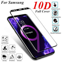 10D Full Cover Screen Protector Tempered Glass For Samsung Galaxy S9 S8 Plus Glass For S7 Edge Note 8 9 A6 A8 Tempered glass(China)