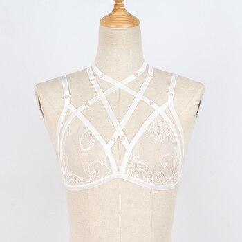Women Sheer Triangle Bralette Bra Crop Top Lace Flower Bustier Unpadded Mesh Lined Lingerie Ladies Clothes lingerie top