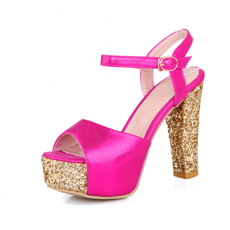 34 À Or forme Taille 12 Gold Cm Talons Sexy Hauts silver Red Talon Femmes Plate Grande 43 rose Sandales 8rq8gwB