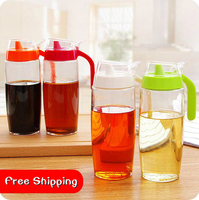 Large Household Glass Jar With Handle And Lid Leak Oiler Kitchen Accessories Seasoning Mason Jar Oil