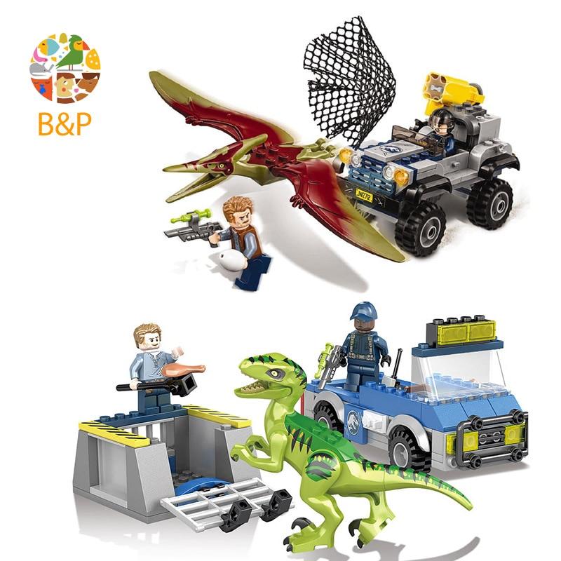 2018 New legoing 75926 302pcs 2 Set Jurassic World 2 Raptor Rescue Model Building Block Brick Toys For Children Lele1081 Gift