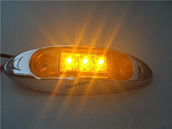 Hot Mini Light 10pcs Amber Red And White 12v Led Side Marker Lamp Tail
