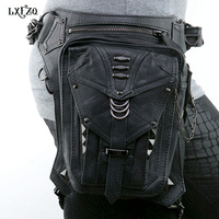 Steampunk bags Thigh Holster Protected Purse Shoulder Purse leather women bag carteras mujer bag thigh Motor leg Outlaw Pack