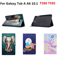 Fashion Painted Stand PU Leather Flip Cute Case Wallet Slim Cover For Samsung Galaxy Tab A