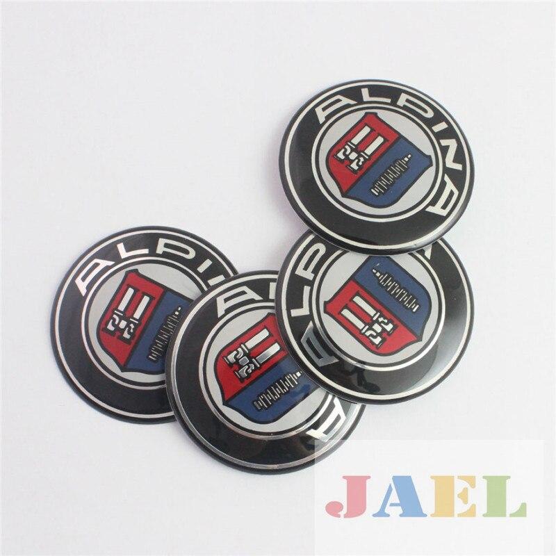 4 Stücke Für ALPINA 65mm Radmitte Radkappen Fall Für ALPINA Emblem ...