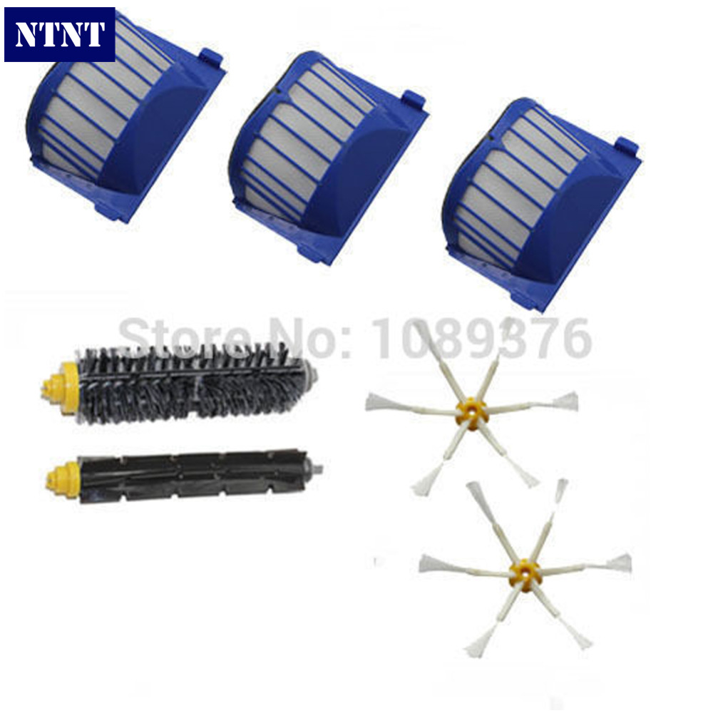 NTNT Free Post New AeroVac Filter + Brush 6 armed for iRobot Roomba 600 700 Series 620 630 650 660 ntnt new filter