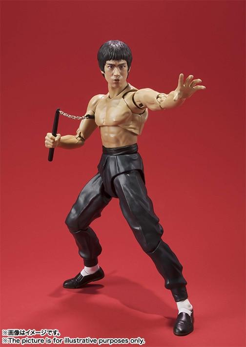 Bruce Lee SHFiguarts SHF Bruce Lee PVC Action Figure Collectible Model Toy 15cm KT3500