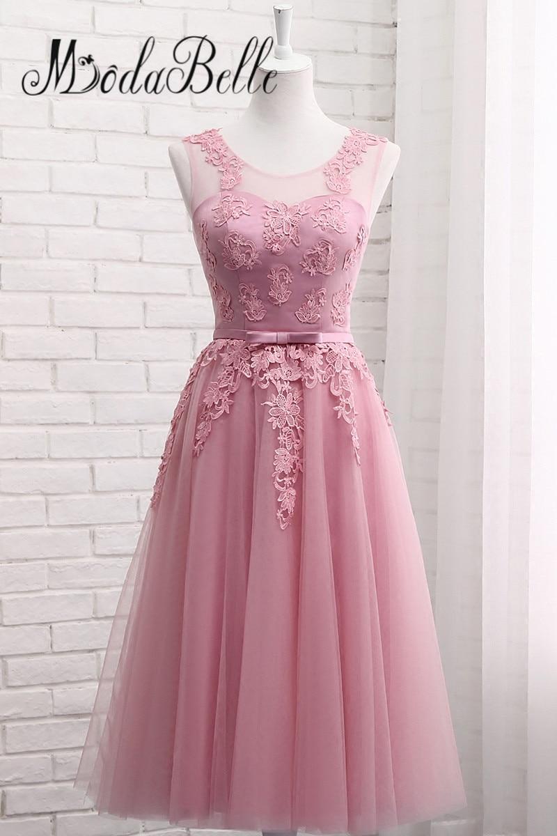 La mejor compra Modabelle Encaje Dusty Pink Vestidos de dama de ...