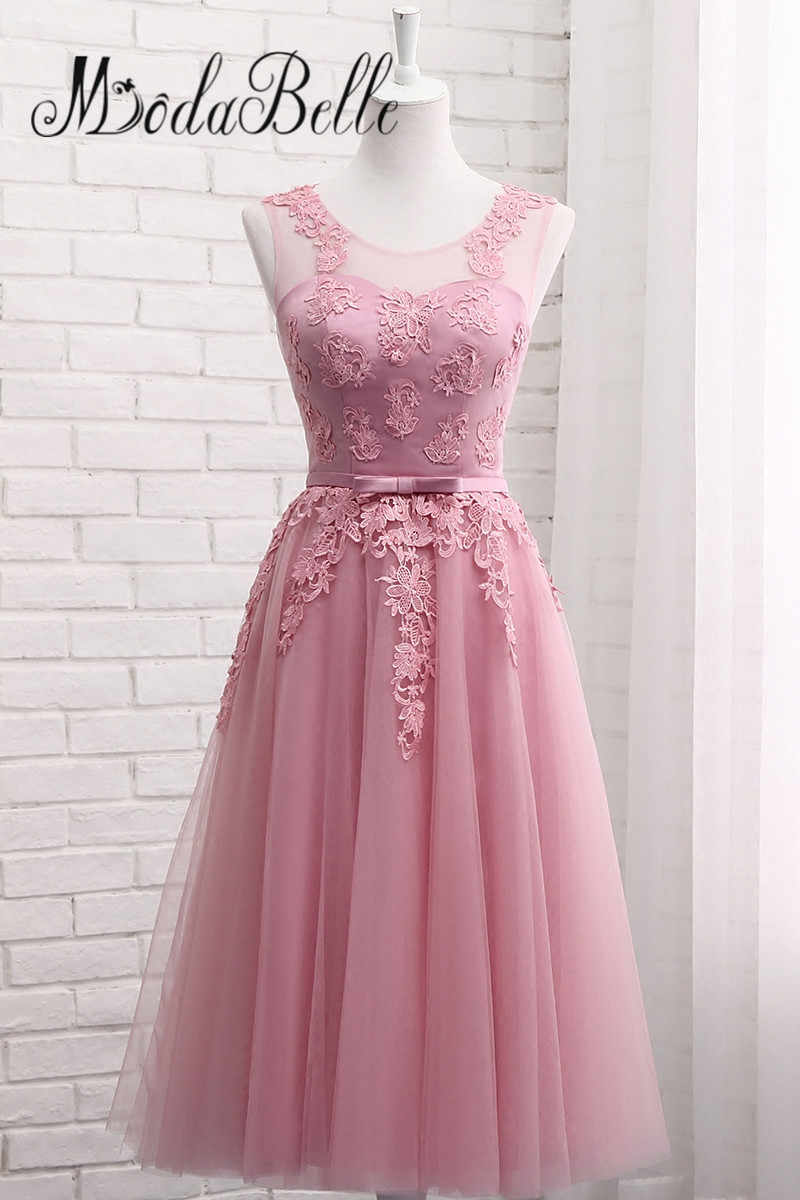 cf469444cd7 ... modabelle Lace Dusty Pink Bridesmaid Dresses For Wedding Cheap  Demoiselle D honneur Long Formal Dress ...