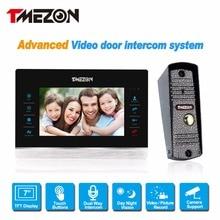 """Tmezon 7 """"TFT Color Monitor 1200TVL Cámara de Vídeo Teléfono de Puerta de Intercomunicación 1v1 Sistema de Altavoces A Prueba de agua Visión Nocturna Por INFRARROJOS de Seguridad"""